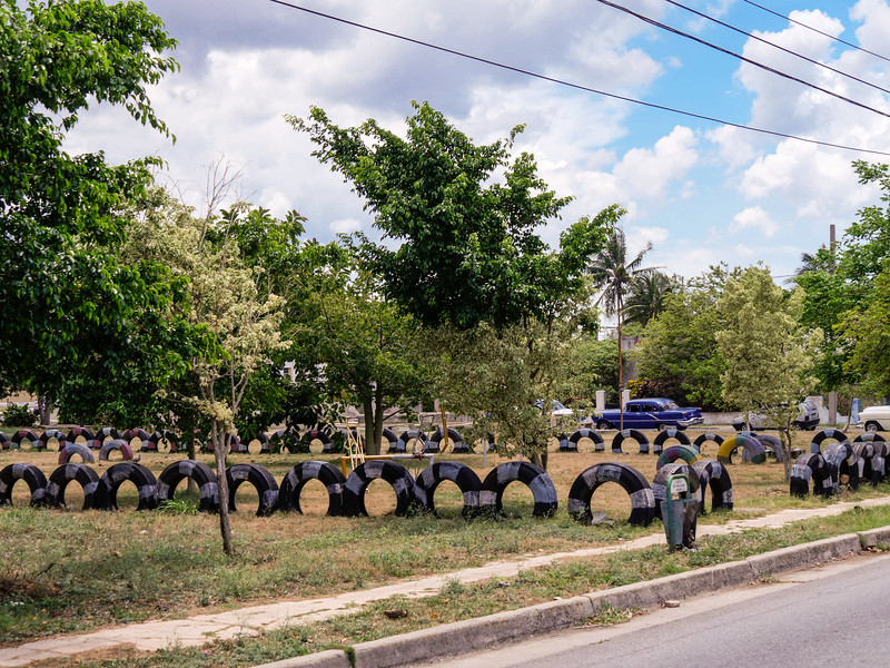 Park, across the street from Hostal El Canonazo, Havana, Cuba, June 3, 2016.