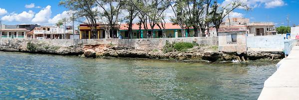 Cojimar town viewed from the dock, Cojimar, Cuba, June 11, 2016.