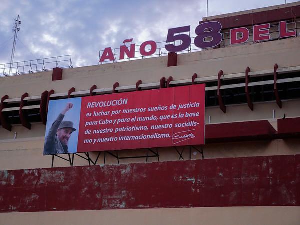 Building across the street from  Rio Mar, Havana, Cuba, June 2, 2016.