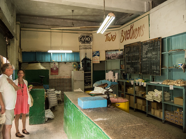 Typical store where Cubans can spend their monthly stipend of 200 pesos. Havana, Cuba, June 2, 2016.