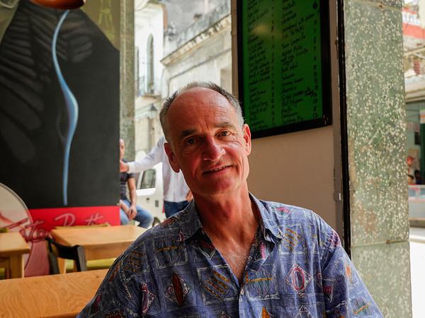 Bob at Lamparilla Tapas & Cervezas, Old Havana, Cuba, June 11, 2016.