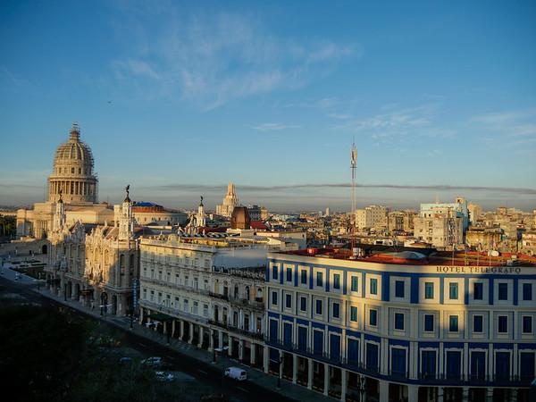 Veiws from the Iberostar Parque Central Hotel, Havana, Cuba, June 11, 2016.