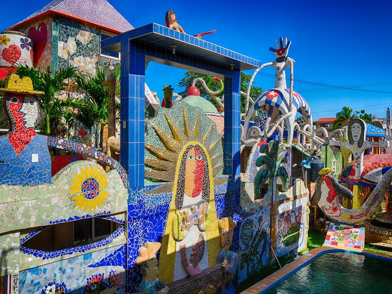 Virgin of Charity of El Cobre, patron saint of Cuba. Fusterlandia,   Havana, Cuba, June 3, 2016.