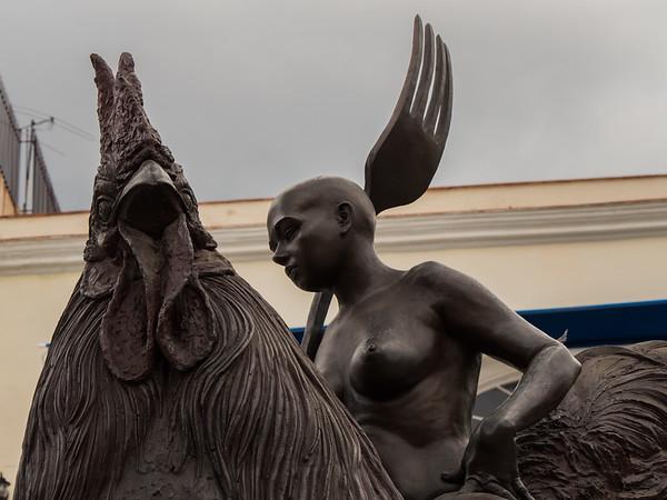 Fantastic Voyage (Viaje Fantastico),  Roberto Fabelo's Rooster Series,  Havana, Cuba, June 2, 2016.
