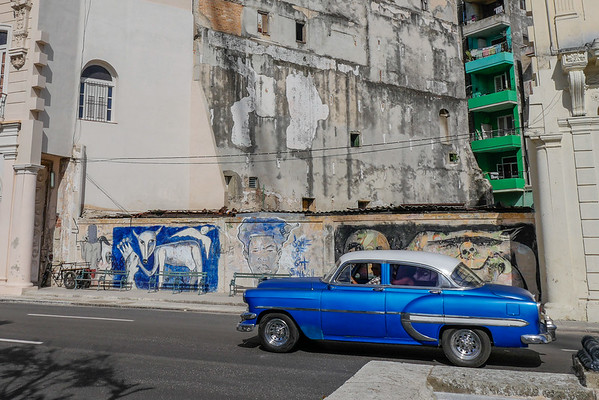 Views along Paseo de Martí (Prado),  Havana, Cuba, June 11, 2016.
