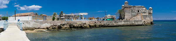 Cojimar Fortress viewed from the dock, Cojimar, Cuba, June 11, 2016.