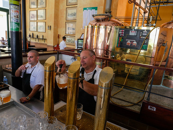 Microbrewery, Old Square (Plaza Vieja), Havana, Cuba, June 11, 2016.