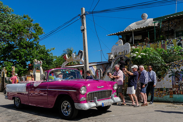 Fusterlandia vs. Chevy convertible?  No contest.  Havana, Cuba, June 3, 2016.