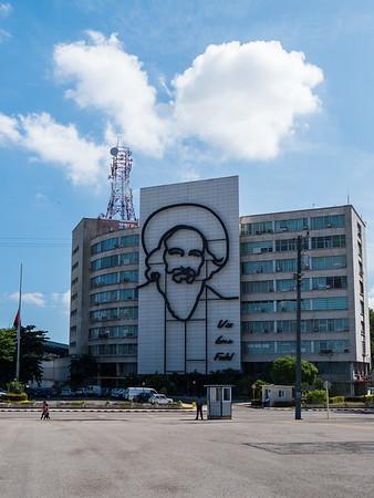 Image of Camilo Cienfuegos Gorriarán, Revolution Plaza (Plaza De La Revolucion), Havana, Cuba, June 2, 2016.
