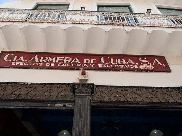 April 9 Armory Museum (Museo Armería 9 de Abril),  Havana, Cuba, June 2, 2016.