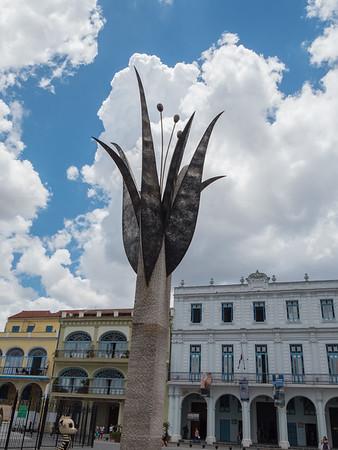 Restoration results, Old Square (Plaza Vieja), Havana, Cuba, June 2, 2016.