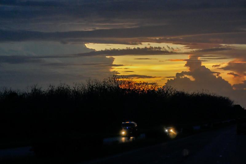 Sunset, one hour from Havana, Cuba, June 10, 2016