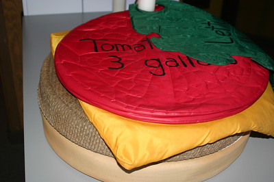 Tomato slice: 3 gallons of water. That's one wet tomato slice!