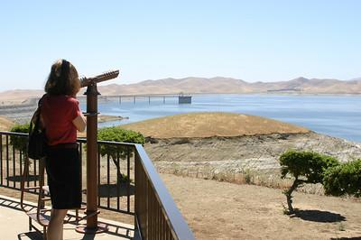 Linda checks out the reservoir.
