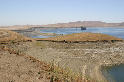 There is no stream feeding this reservoir. Water is pumped in from the aqueduct at night when power costs are lower, and let out during the day to generate more power.