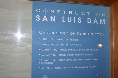 Information about the construction of the dam, which is the fourth largest embankment dam in the U.S. of A.