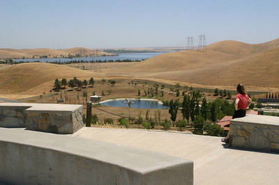 From the hilltop,you could see all the way back out to the San Luis Reservoir, which we had left 20 minutes earlier.