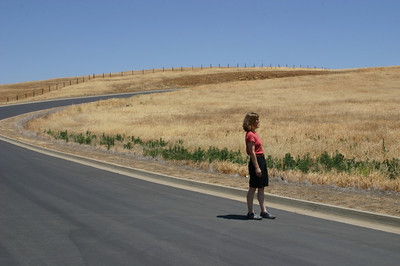 We had to walk all the way around to the back side of the hill and then follow a long, curving roadway up the hill.