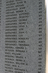 You could tell that these were Californians who gave their lives; the engraved lists were flush with names like Hernandez, Fernandez, Sanchez--