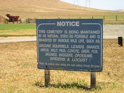 But there are warnings about rattlesnakes and other critters here, too.