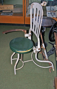 And here's an early reclining dentist's chair.