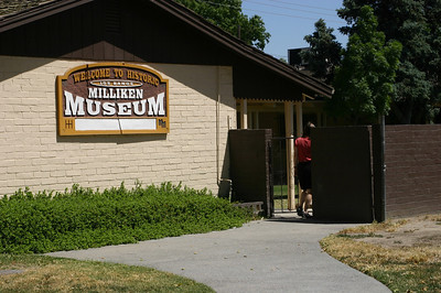 The museum is set back from the road, in a more modern-looking building.