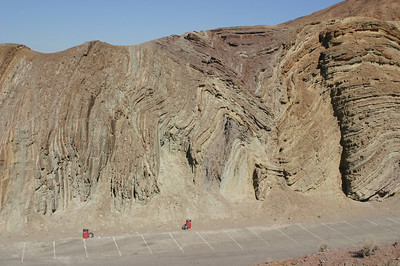 An even better look at the scale of the folds in the rock. There was no info anywhere, that I saw, discussing the geology of the town and surrounding hills.