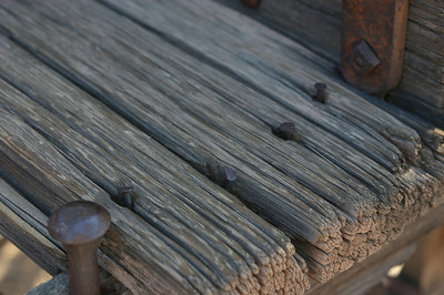 More of the same old, textured, weathered wood.