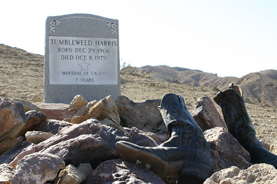 This was a very recent grave, of a man who had been the town's marshal. The boots were a nice touch.