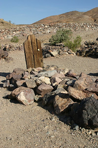 Some of the graves had weathered wooden markers with no writing remaining visible.