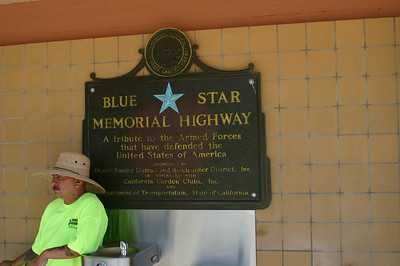 This section of I-40 is apparently a Blue Star Memorial Highway.  Out here, in the middle of nowhere, two guys were selling jewelery.
