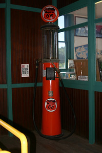 The museum included some cool old gas pumps. This one was before my time.
