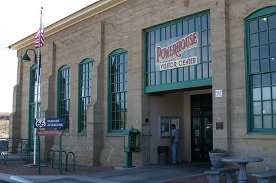 Late in the afternoon, we arrived at Kingman, Arizona, and checked out the Historic Route 66 Museum in an old power building. The building was comfortably cool--yay!--and the exhibits interesting.