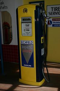 A somewhat more modern gas pump.