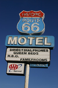 Our motel for Sunday night--the Historic Route 66 Motel in Seligman (pronounced sa LIG man).