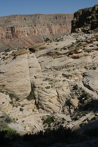 Same switchbacks, different angle. You can see people in several places along the trail.