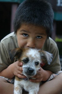 OK, I'll admit it, there's just nothing cuter than a boy and  his puppy.