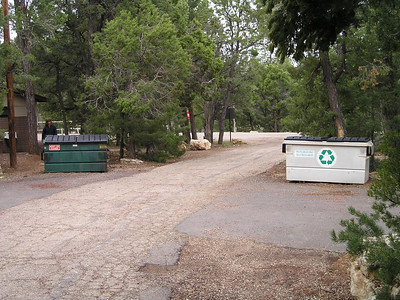 It was nice to see that the park has invested itself in recycling. There was an equally large recycling dumpster near the regular trash dumpster.