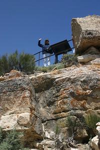 Linda waves from the upper overlook.