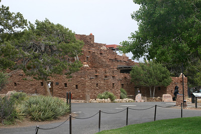 Here's Hopi House, another Mary Colter design, now used both as a store for native (and other) arts and as a studio.