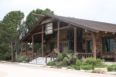 Bright Angel Lodge. One of the old rustic lodges in Grand Canyon Village.