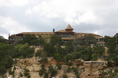 El Tovar, the really big lodge, opened in 1905. Built by Santa Fe Railroad, decorated by Mary Colter, and operated by Fred Harvey.