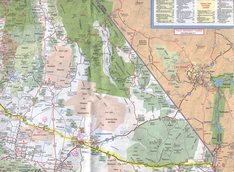 Days 1, 2, and 7 Havasu trip map