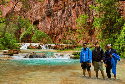 Posing at one of the Havasu Creek crossings on the way to Beaver Falls