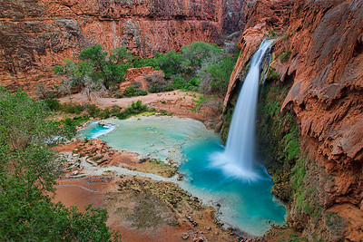The first sight of Havasupai Falls from up top was breathtaking