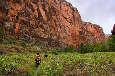 Hiking through Ghost Canyon