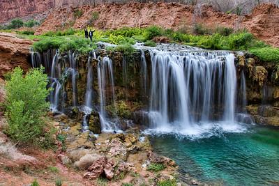 Vijay and Sushanth wade to the top of New Navajo Falls