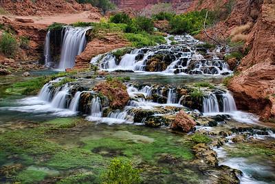 The various cascades of New Navajo Falls