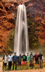 The gang at the base of Mooney Falls