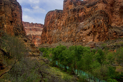 Beaver Canyon looks spectacular with the tree lined creek cutting through the canyon
